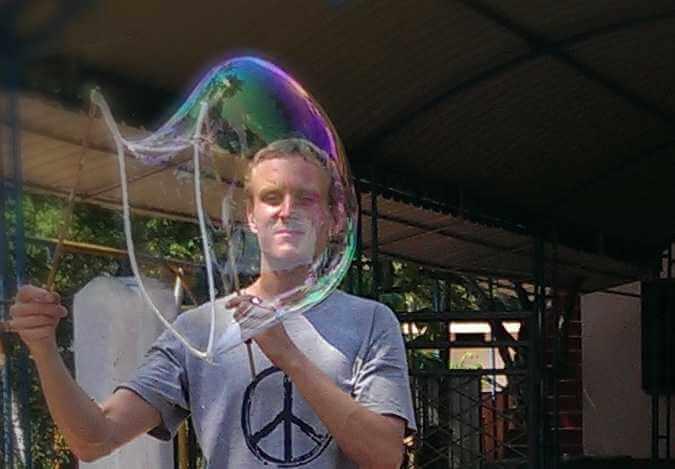 Riesenseifenblasen Spielzeug kleines Dreieck Seifenblasenfabrik