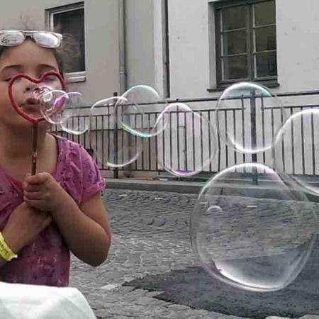 Seifenblasen, Pusten