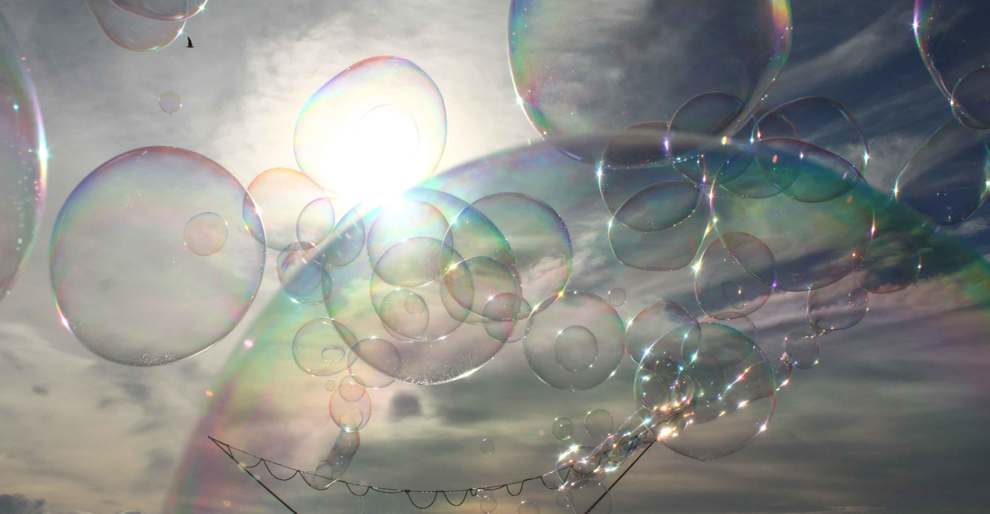 Riesenseifeblasen Girlande Seifenblasenkunst Bubblebo Seifenblasenfabrik